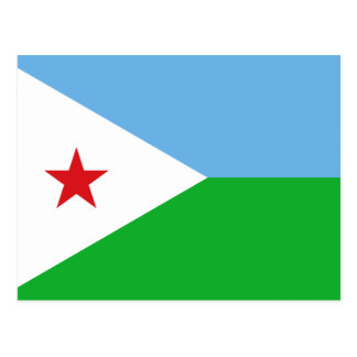 Djibouti National World Flag Postcard