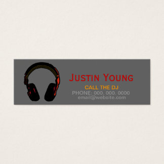 djs / deejays / electronic music mini business card