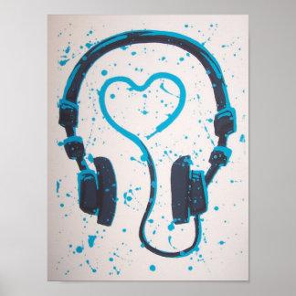 Headphones Posters | Zazzle.com.au