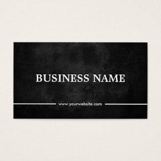DJs Music Grunge Dark Chalkboard Business Card