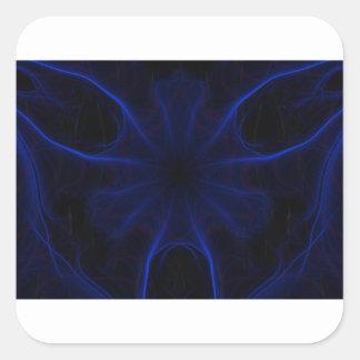 Dk. Blue laser Square Sticker
