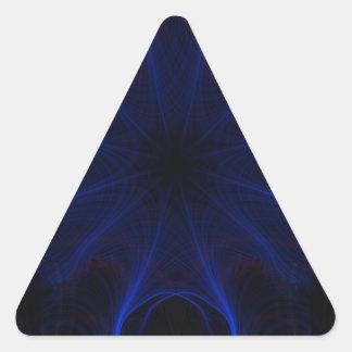 Dk. Blue laser Triangle Sticker