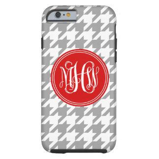 Dk Gray White Houndstooth Red 3I Vine Monogram Tough iPhone 6 Case