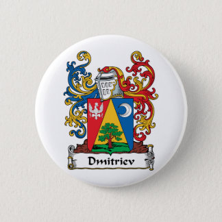 Dmitriev Family Crest 6 Cm Round Badge