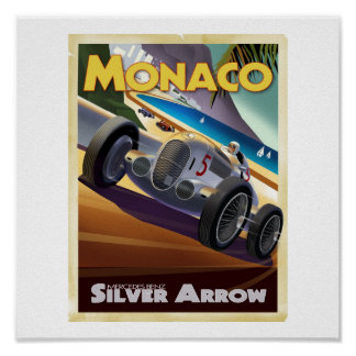 DMoore Silver Arrow Poster