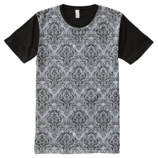 DMS1 BK-GY MARBLE (R) All-Over PRINT T-Shirt