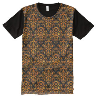 DMS1 BK-OR MARBLE All-Over PRINT T-Shirt