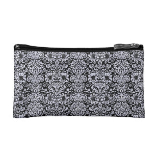 DMS2 BK-WH MARBLE COSMETIC BAG