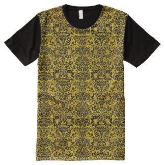DMS2 BK-YL MARBLE (R) All-Over PRINT T-Shirt