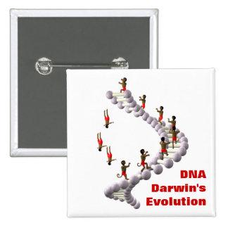 DNA Darwin's Evolution 15 Cm Square Badge