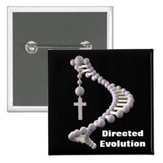 DNA Directed Evolution 15 Cm Square Badge