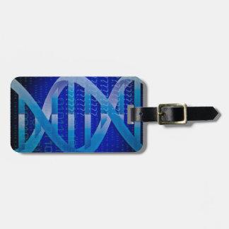 DNA ID Blue Luggage Tag