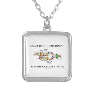 DNA Is Just The Beginning Systems Biologist Inside Silver Plated Necklace