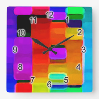 DNA of Color Square Wall Clock