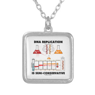 DNA Replication Is Semi-Conservative Silver Plated Necklace