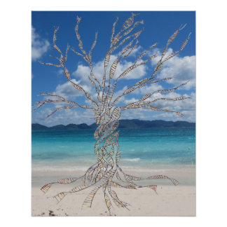 DNA TREE or Tree of Life at beach POSTER