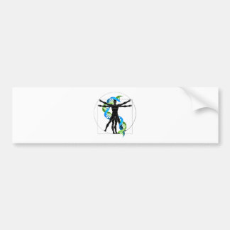 DNA Vitruvian Man Bumper Sticker