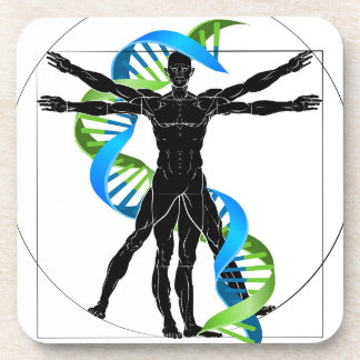 DNA Vitruvian Man Coaster