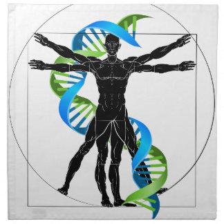 DNA Vitruvian Man Napkin