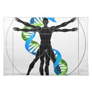 DNA Vitruvian Man Placemat