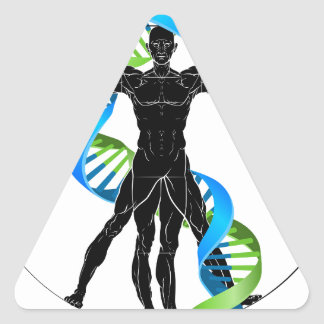 DNA Vitruvian Man Triangle Sticker