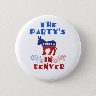 DNC Convention Obama Button
