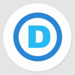 DNC D SYMBOL.png Round Stickers