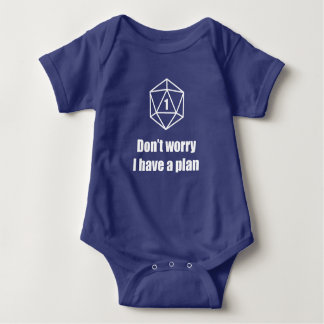 DnD - Don't worry, I have a plan Baby Bodysuit