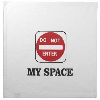 dne my space area napkin