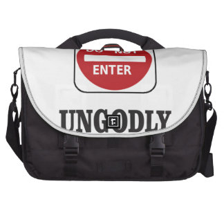 dne ungodly laptop shoulder bag