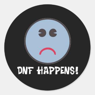 DNF Happens! Classic Round Sticker