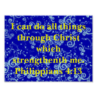 Do all things christian bible poster phillipians 4