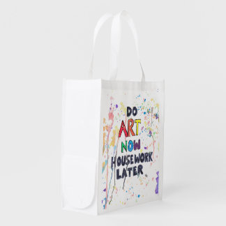 Do Art Now, Housework Later Market Tote