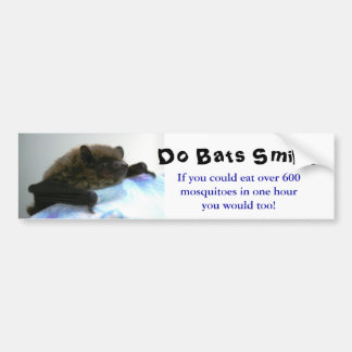 """Do Bats Smile?"" Bumper Sticker"