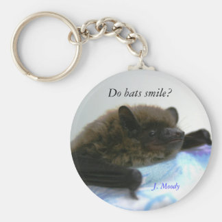 """Do Bats Smile?"" Key Ring"