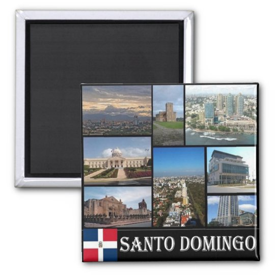 DO - Dominican Republic - Santo Domingo - Collage Magnet