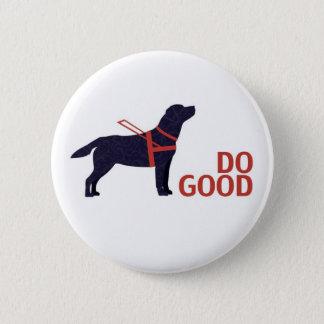 Do Good - Service Dog - Black Lab 6 Cm Round Badge