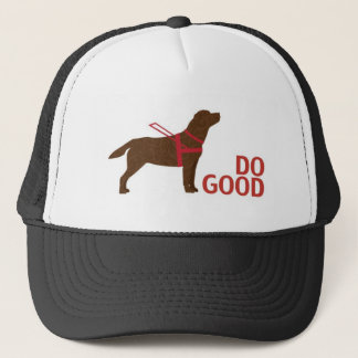 Do Good - Service Dog - Chocolate Lab Trucker Hat