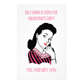 Do I Have a Date for Valentine's Day? Customized Stationery