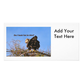 """""""Do I Look Fat In This"""" Eagle Personalized Photo Card"""