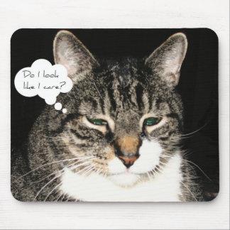 Do I look like I care? Mouse Pad