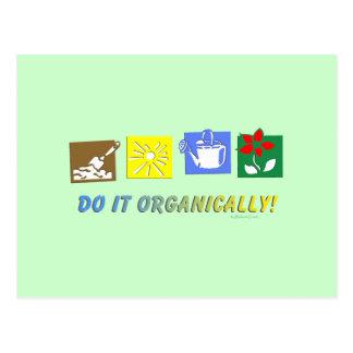 Do It Organically Postcard