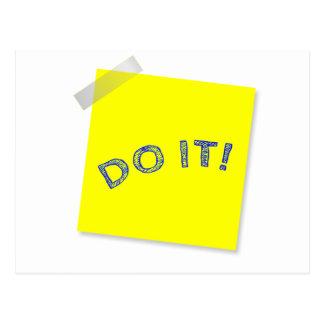 Do it! postcard