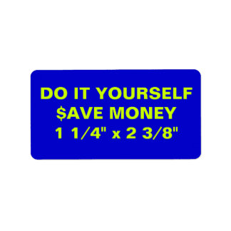 """DO IT YOURSELF ~ Address Labels 1 1/4"""" x 2 3/8"""""""