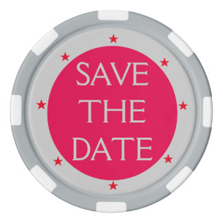 Do It Yourself FRAMED ~ Save the Date Poker Chips