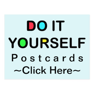 DO IT YOURSELF ~ Postcard