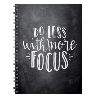 Do Less With More Focus Quote Notebook