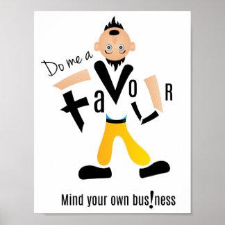 Do me a favour super cool designer poster