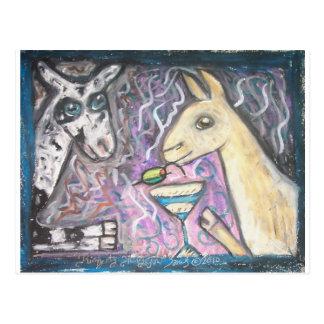 Do Nigerian Dwarf Goats Have Martinis? Postcard