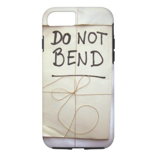 Do Not Bend Hand Lettered Paper Parcel Bendgate iPhone 7 Case